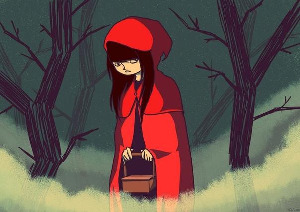 """Пересказы """"Красной Шапочки"""" в стиле разных писате…"""