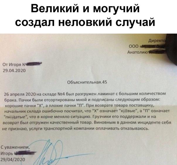 Вот к чему привела привычка общаться на русско-ма…