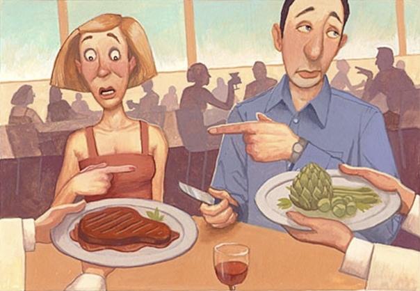 Оля не просто не ест мясо, нет. Она с мясом за од…