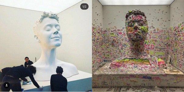 В Нью-Йорке проходит инсталляция, певица Кэти Пэр…